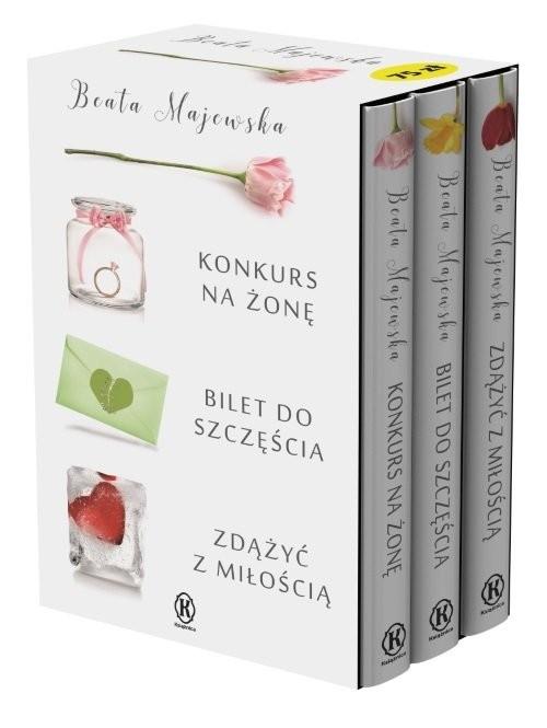 okładka Konkurs na żonę / Bilet do szczęścia / Zdążyć z miłością Pakiet, Książka | Beata Majewska