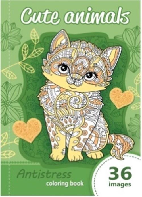 okładka Kolorowanka antystresowa Cute animals, Książka |