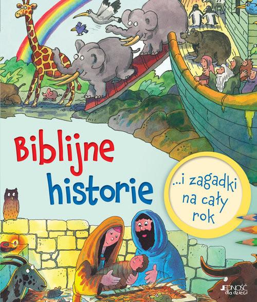 okładka Biblijne historie i zagadki na cały rok, Książka   Sally Ann Wright, Graham Round