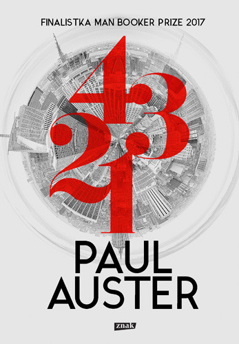 okładka 4 3 2 1, Książka | Auster Paul