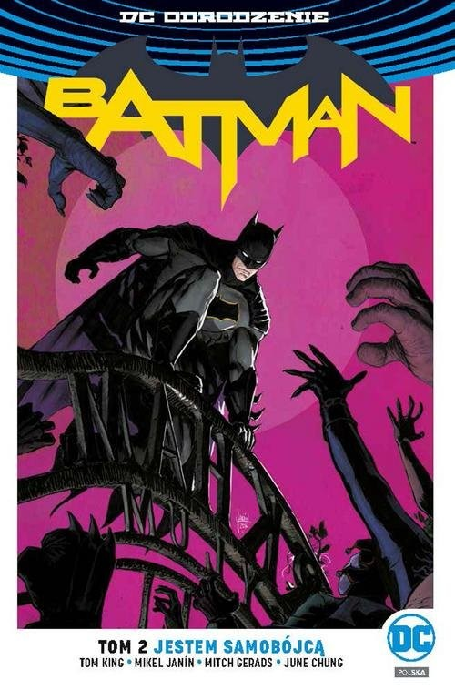 okładka Batman Tom 2 Jestem samobójcąksiążka      Tom King, Mikel Janín, Mitch Gerads, Ju Chung