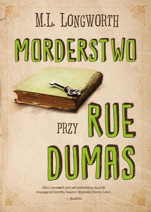 okładka Verlaque i Bonnet na tropie Tom 2 Morderstwo przy rue Dumas, Książka | M. L. Longworth