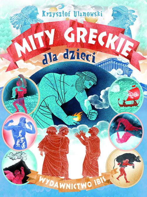 okładka Mity greckie dla dzieci, Książka |