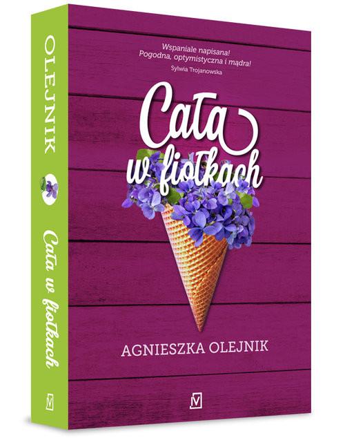 okładka Cała w fiołkach, Książka | Olejnik Agnieszka