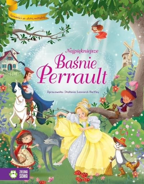 okładka Opowieści ze złotą wstążką Najpiękniejsze baśnie Perrault, Książka | Hartley Stefania Leonardi