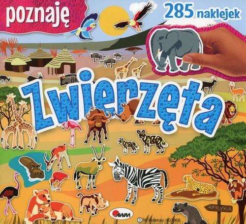 okładka Poznaję zwierzęta 285 naklejek, Książka   Miłoszewski Leszek