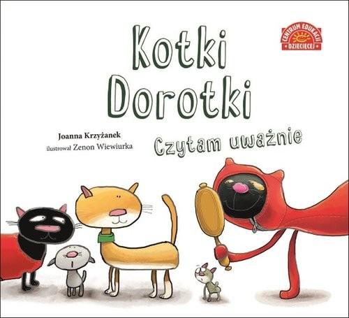 okładka Kotki Dorotki Czytam uważnie, Książka | Joanna  Krzyżanek