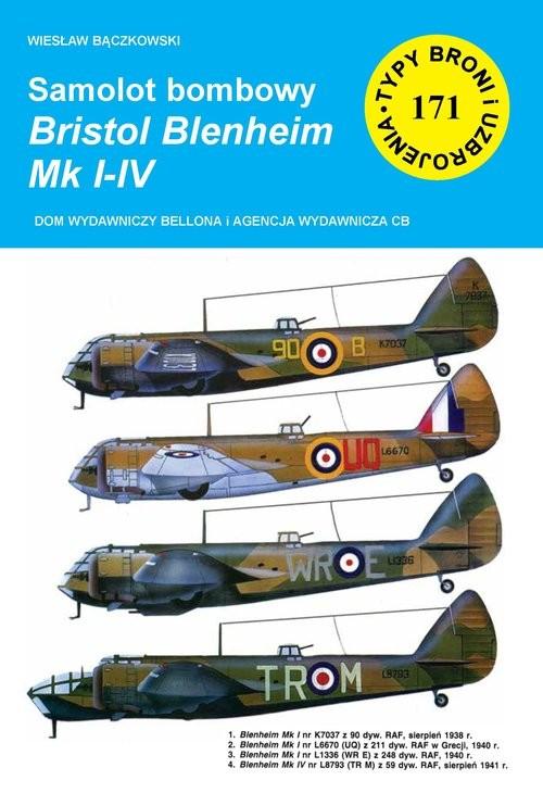 okładka Samolot bombowy Bristol Blenheim Mk I-IV, Książka | Bączkowski Wiesław