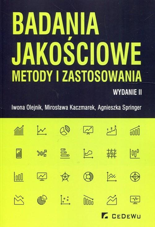 okładka Badania jakościowe metody i zastosowania, Książka | Iwona Olejnik, Mirosława Kaczmarek, Springer