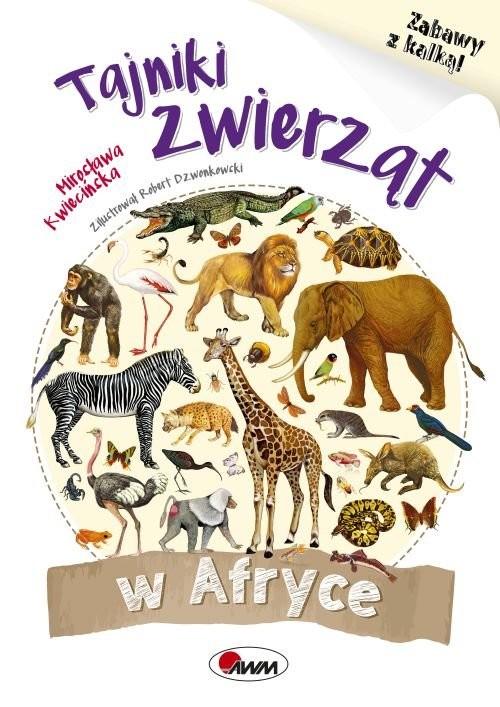 okładka Tajnki zwierząt w Afryce Zabawy z kalką, Książka | Kwiecińska Mirosława
