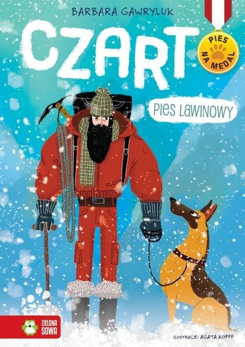 okładka Pies na medal Czart pies lawinowy, Książka   Gawryluk Barbara