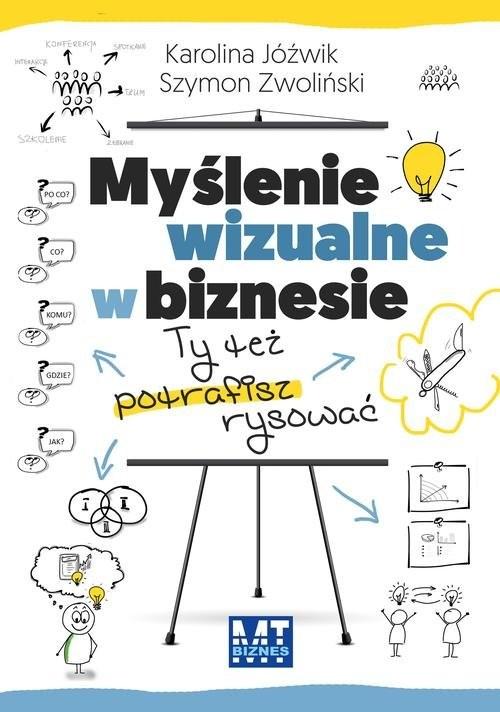 okładka Myślenie wizualne w biznesie Ty też potrafisz rysować, Książka | Jóźwik Karolina