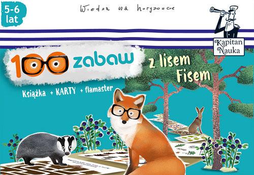 okładka 100 zabaw z lisem Fisem (5-6 lat), Książka | Bożena Dybowska, Anna Grabek