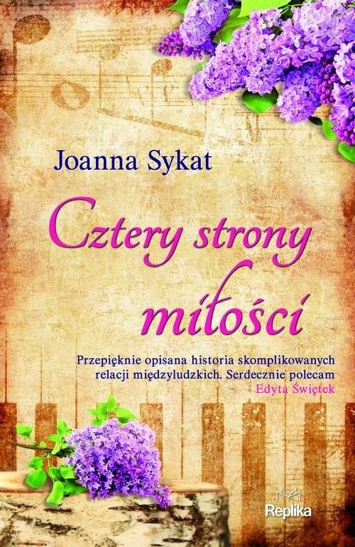 okładka Cztery strony miłości, Książka | Sykat Joanna