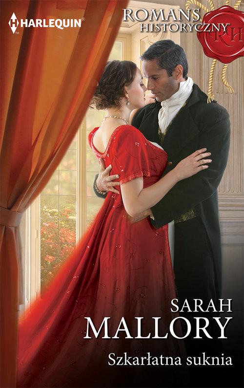 okładka Szkarłatna suknia, Książka | Sarah Mallory