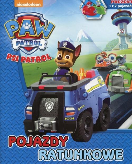 okładka Psi Patrol Pojazdy ratunkowe + prezent 1 z 7 pojazdów, Książka  