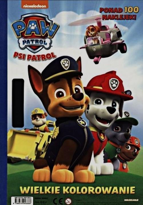 okładka Psi patrol Wielkie kolorowanie, Książka  