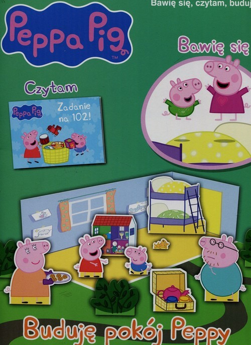 okładka Peppa Pig Bawię się czytam buduję nr 5 Buduję pokój Peppy, Książka  