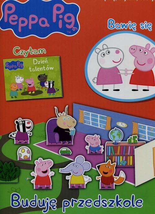 okładka Peppa Pig Bawię się czytam buduję nr 6 Buduję przedszkole, Książka  