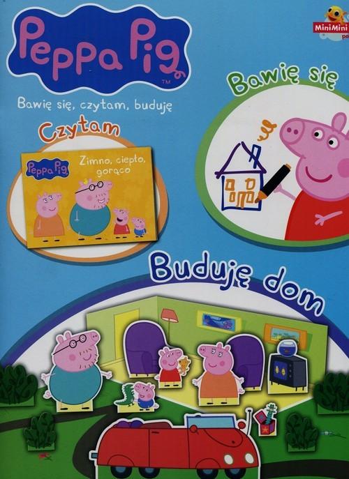 okładka Peppa Pig Bawię się czytam buduję nr 1 Buduję dom, Książka  