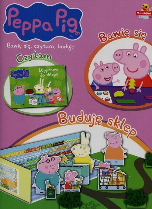 okładka Peppa Pig Bawię się czytam buduję nr 3 Buduję sklep, Książka  