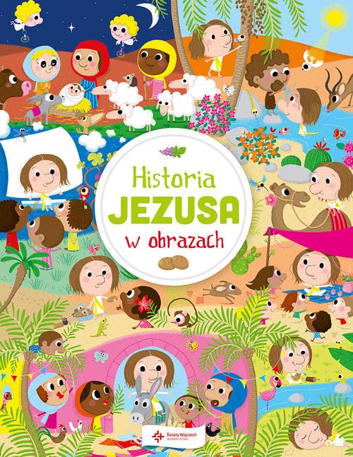 okładka Historia Jezusa w obrazach, Książka | Laureen Bouyssou