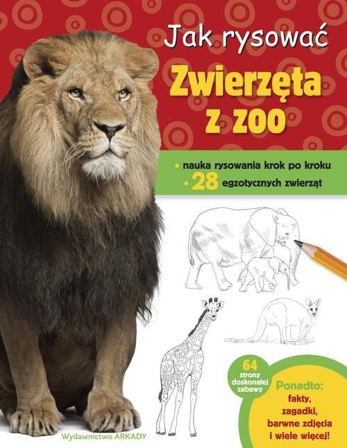 okładka Jak rysować Zwierzęta z zoo, Książka | Cuddy Robin
