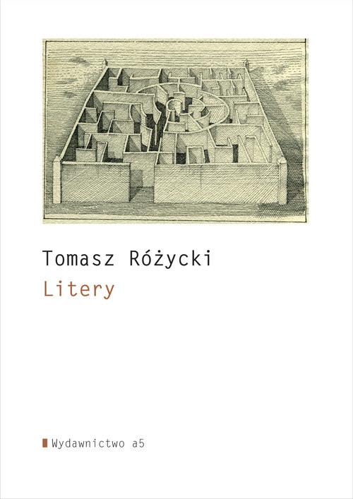 okładka Litery, Książka | Różycki Tomasz