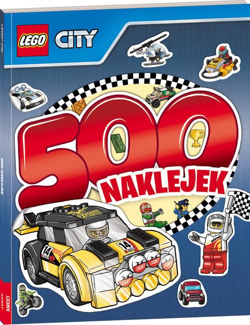 okładka Lego City 500 naklejek, Książka |