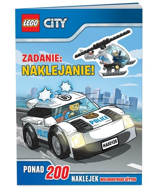 okładka Lego City Zadanie naklejanie, Książka |