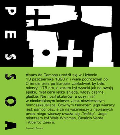 okładka Poezje zebrane Alvaro de Campos, Książka | Pessoa Fernando