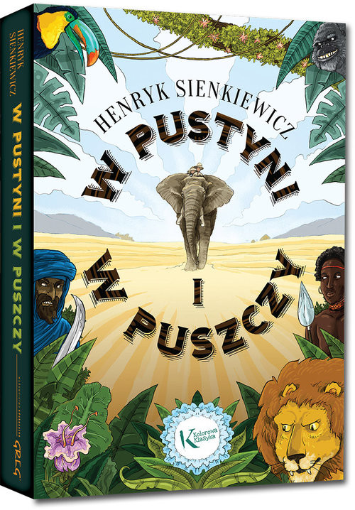 okładka W pustyni i w puszczy, Książka | Sienkiewicz Henryk