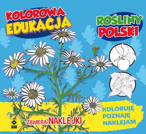 okładka Kolorowa edukacja Rośliny Polski naklejka, Książka |