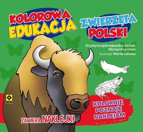 okładka Kolorowa edukacja Zwierzęta Polski - naklejka, Książka |