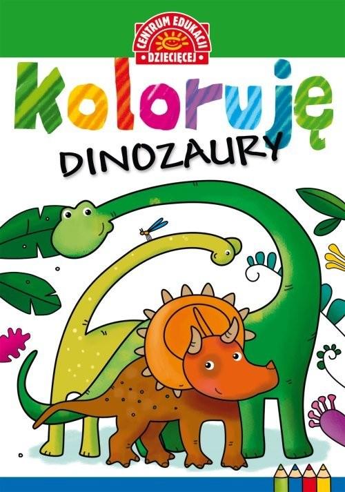 okładka Koloruję Dinozaury, Książka |