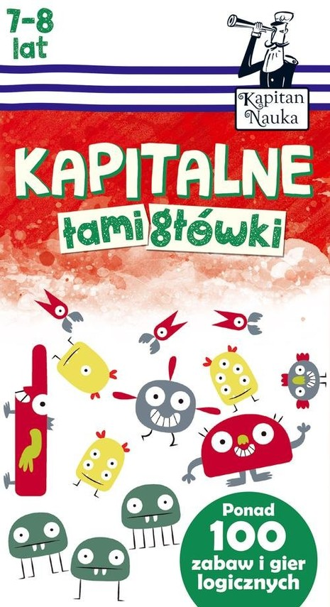 okładka Kapitalne łamigłówki (7-8 lat), Książka | Trepczyńska Magdalena