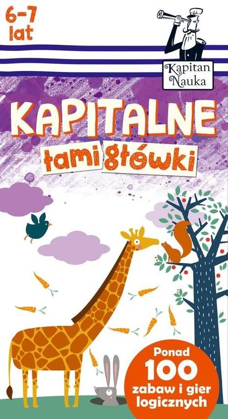 okładka Kapitalne łamigłówki (6-7 lat), Książka | Trepczyńska Magdalena