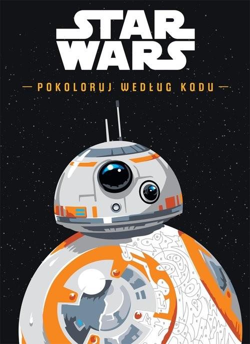 okładka Star Wars Pokoloruj według kodu, Książka |