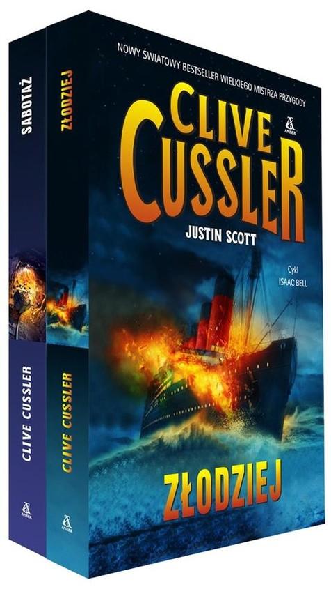 okładka Złodziej / Sabotaż, Książka | Cussler Clive