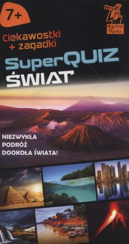 okładka Kapitan Nauka SuperQuiz Świat, Książka | Jarzębowska Magdalena