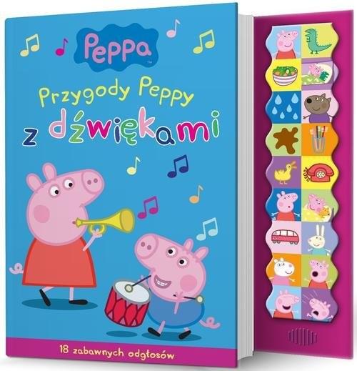 okładka Świnka Peppa Przygody Peppy z dźwiękami, Książka  