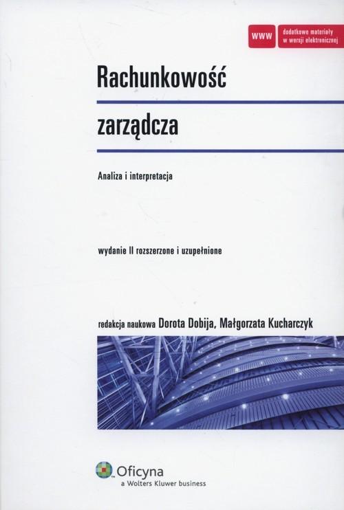 okładka Rachunkowość zarządcza Analiza i interpretacja, Książka |