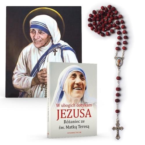 okładka W ubogich dotykam Jezusa - Różaniec ze św. Matką Teresą - modlitewnik, różaniec, portret, Książka  