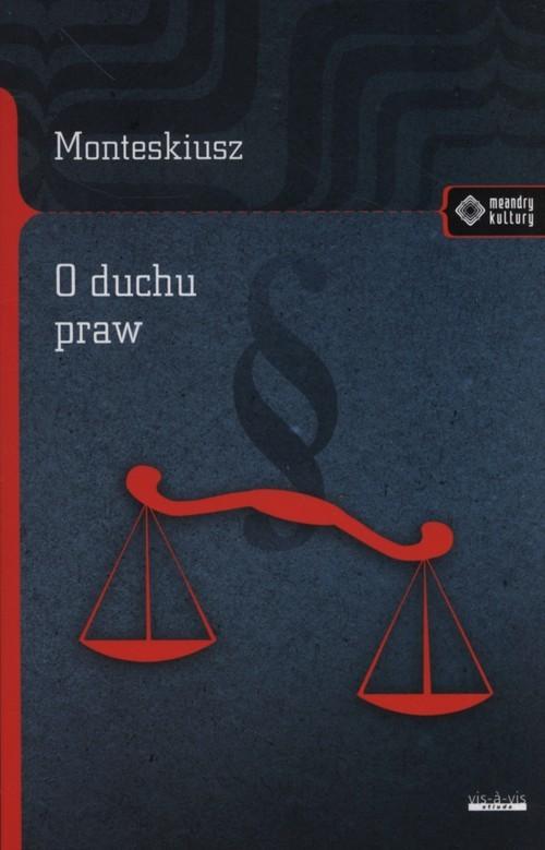 okładka O duchu praw, Książka | Monteskiusz