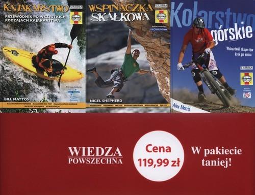 okładka Kolarstwo górskie / Wsponaczka skałkowa / Kajakarstwo pakiet, Książka |