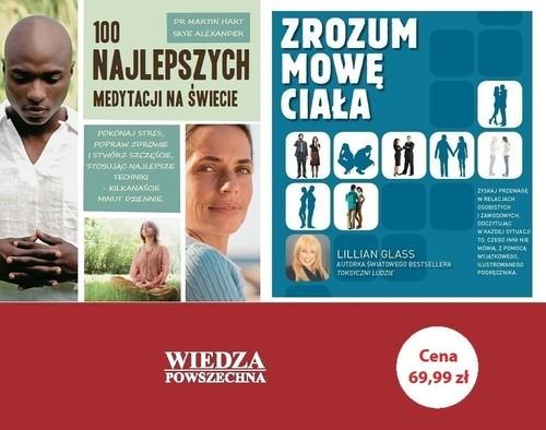 okładka Zrozum mowę ciała / 100 najlepszych medytacji na świecie Pakiet, Książka |