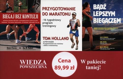 okładka Biegaj bez kontuzji / Bądź lepszym biegaczem / Przygotowanie do maratonu Pakiet, Książka |