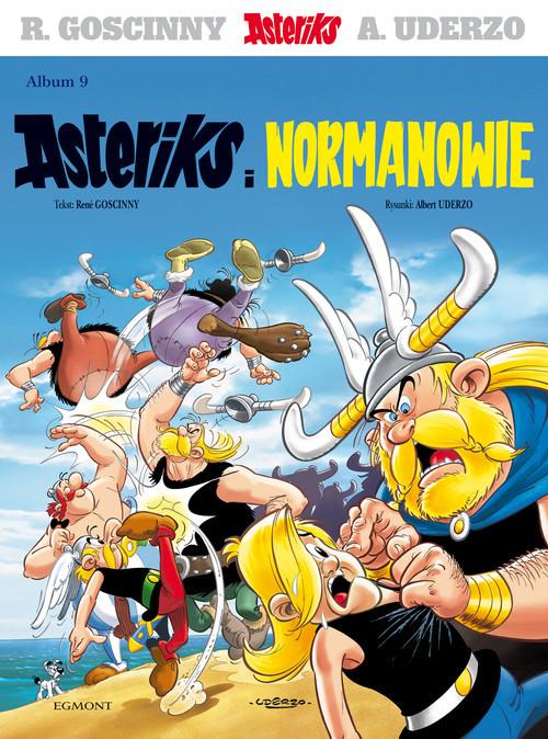 okładka Asteriks Asteriks i Normanowie Tom 9. KsiążkaRené Goscinny, Albert Uderzo