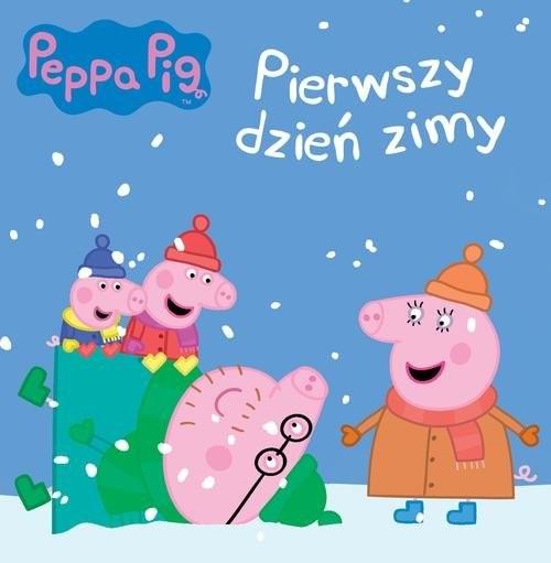 okładka Świnka Peppa Pierwszy dzień zimy, Książka  