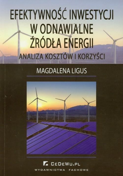 okładka Efektywność inwestycji w odnawialne źródła energii Analiza kosztów i korzyści, Książka | Ligus Magdalena